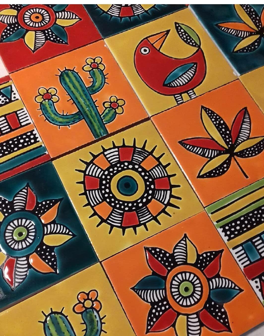 Mosaicos Estilo Mexicano Arte De Ceramica El Arte De La