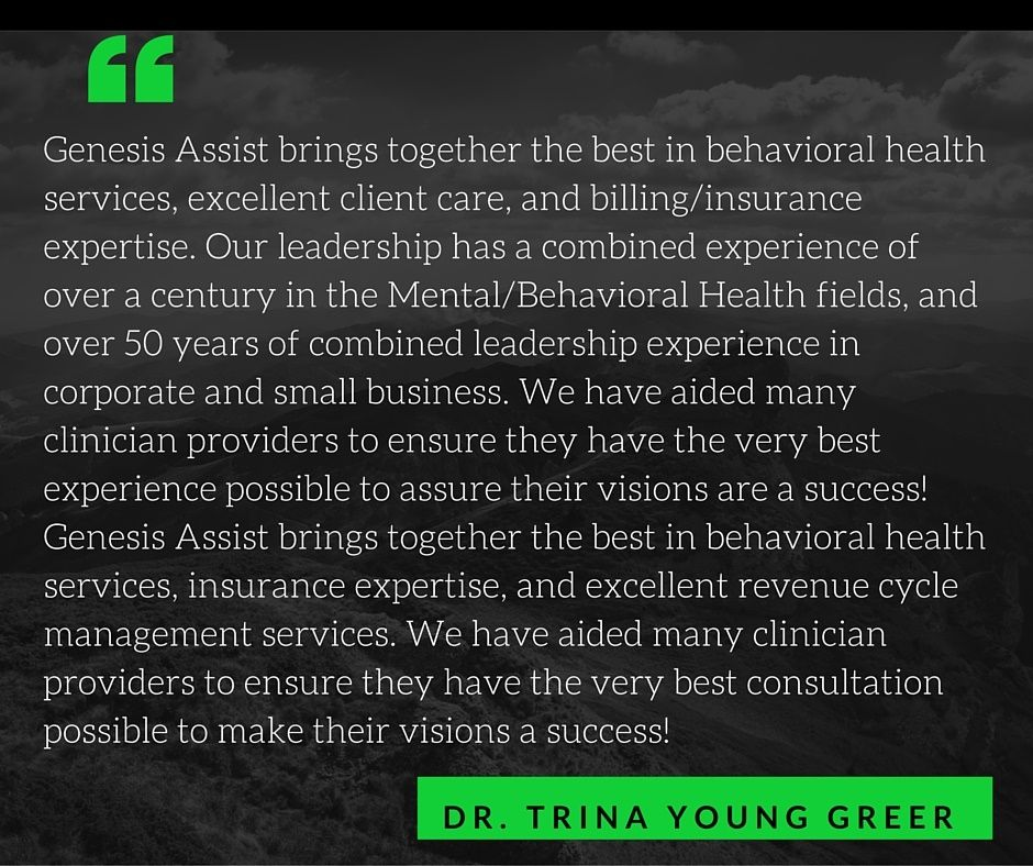 The Genesis of Revenue Cycle Management for Behavioral Health with Dr. Trina Young Greer » everythingEHR