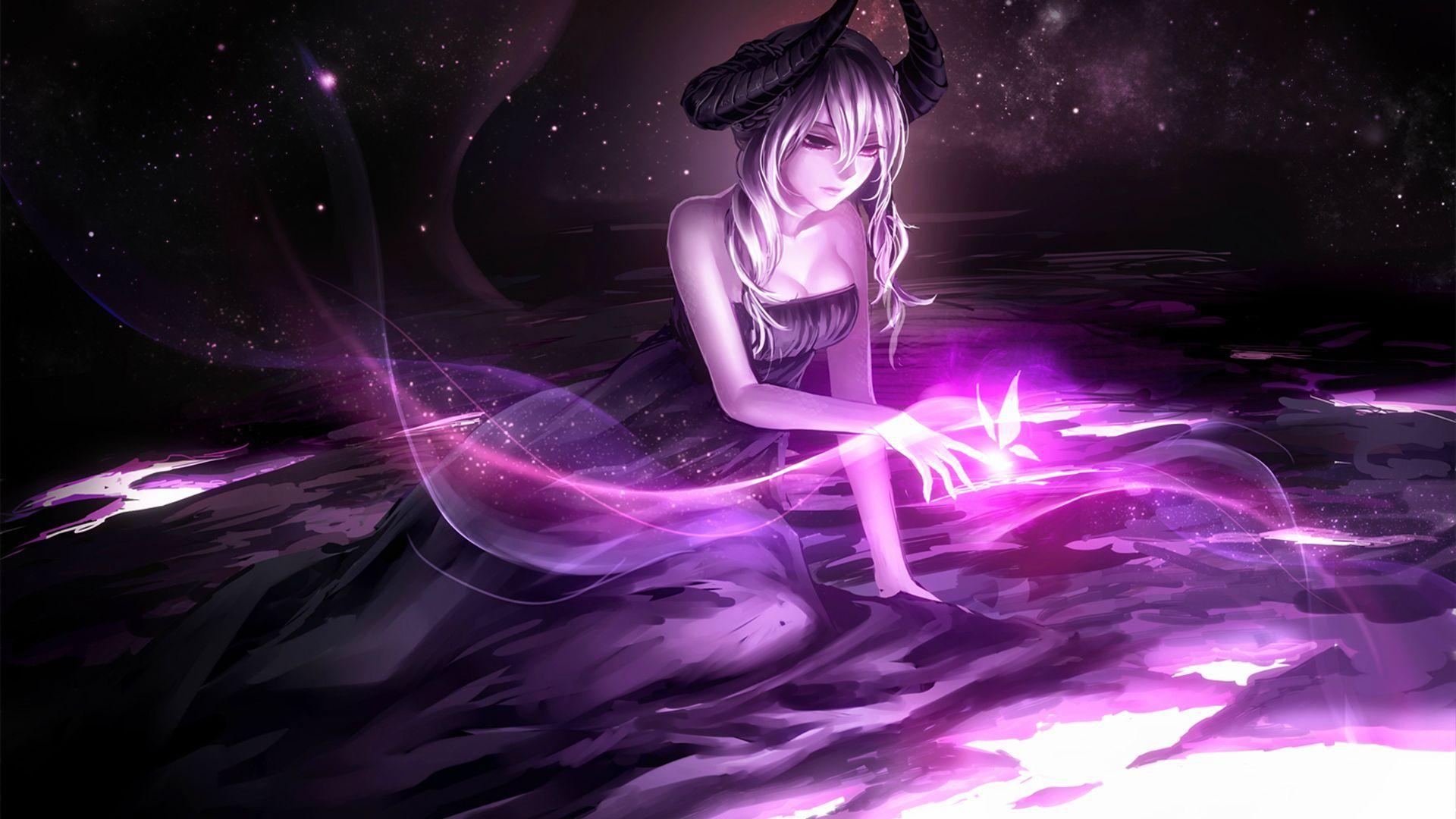 Pin By Dolly Hickman On Anime In 2020 Anime Art Dark Anime Demon Girl