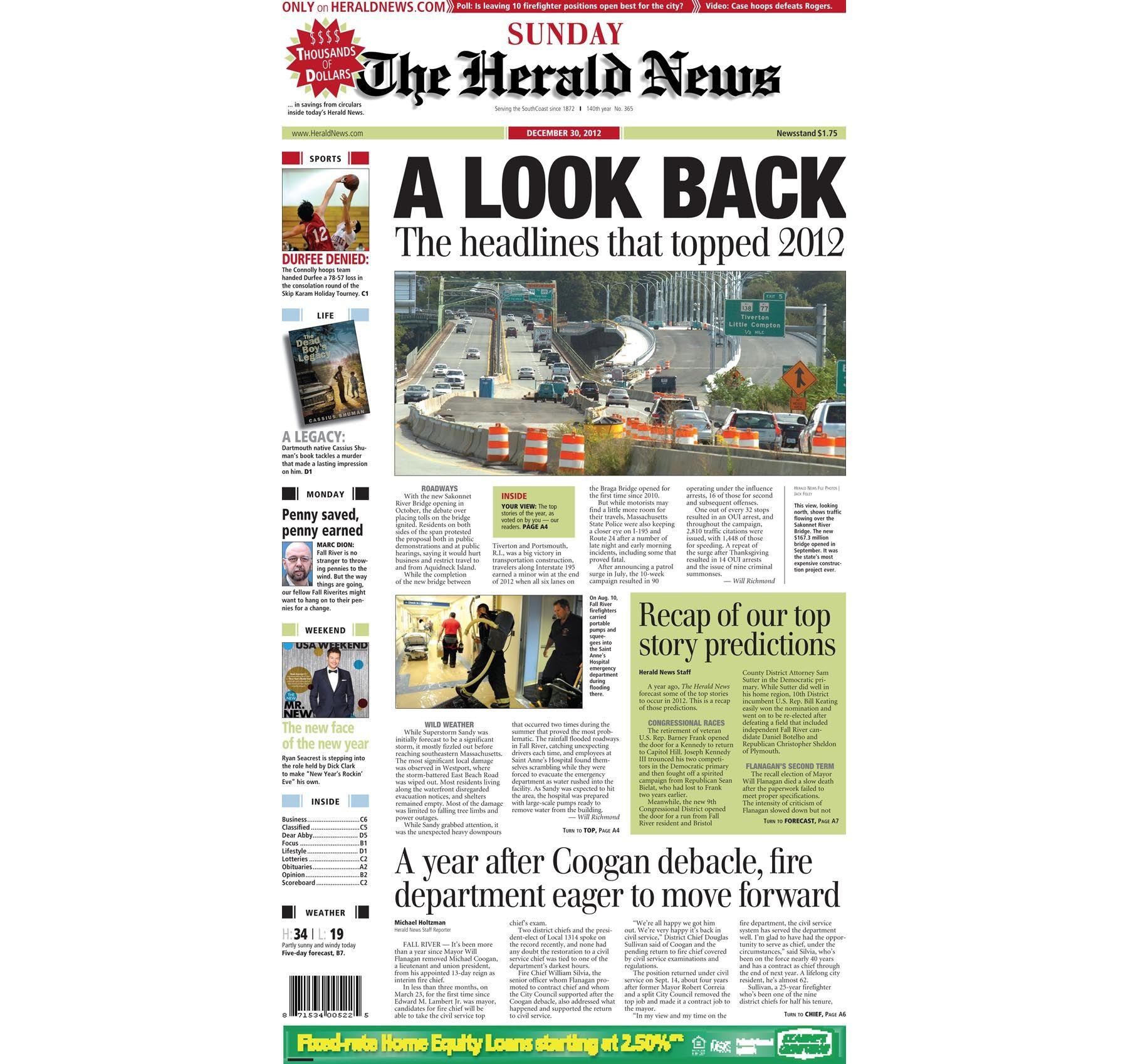 HeraldNews front page, 6-6-6. #FallRiver  Herald news, Fall