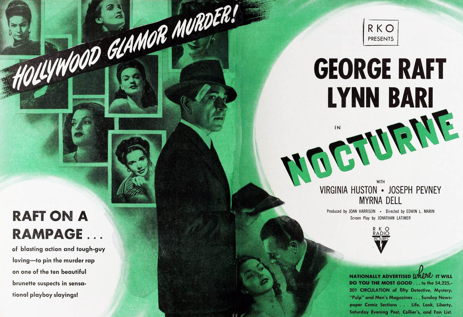 Nocturne: Double page spread from Film Daily