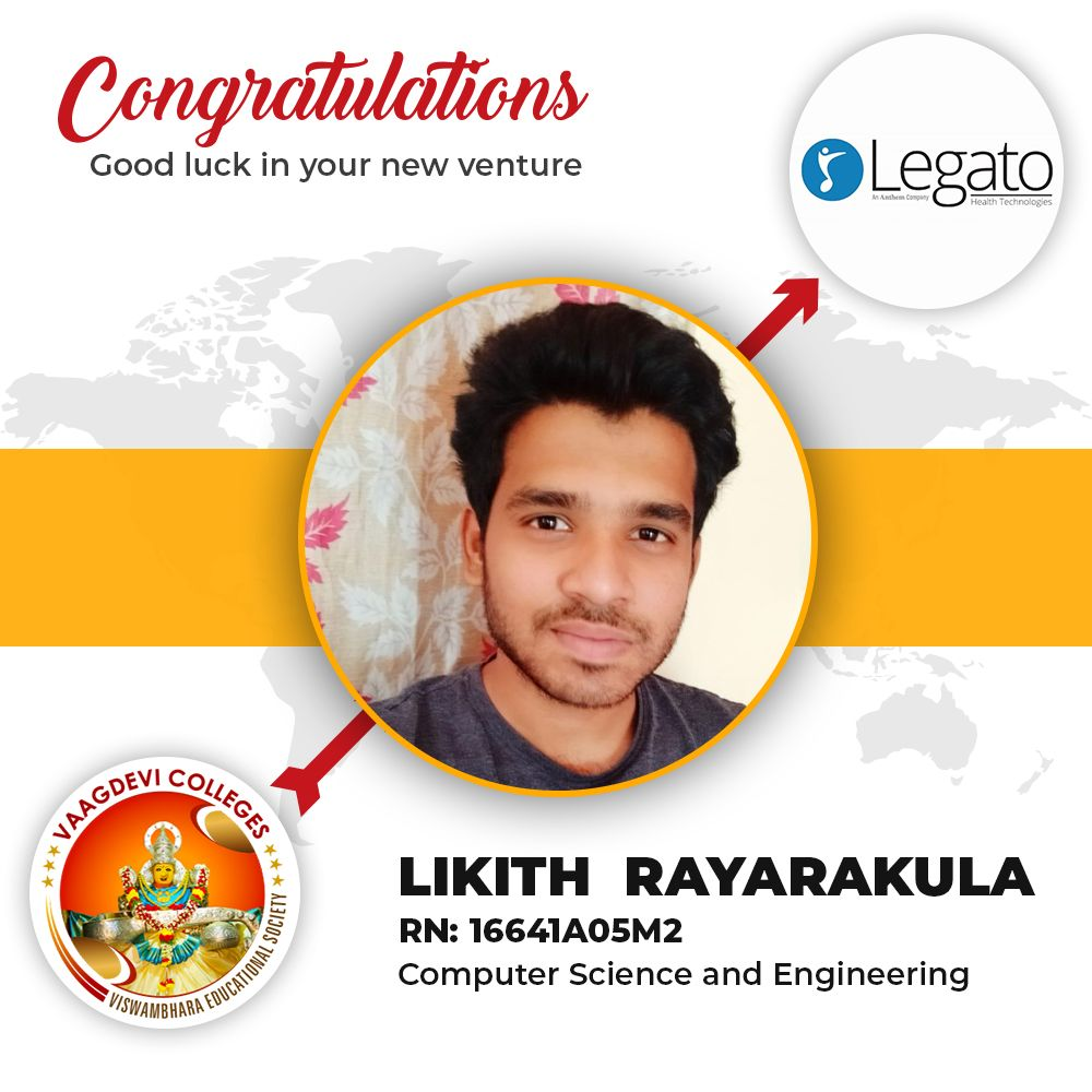 A Hearty Congratulations To Likith Rayarakula Computer Science And Engineering 16641a05m2 Computer Science Student Activities Communication Skills
