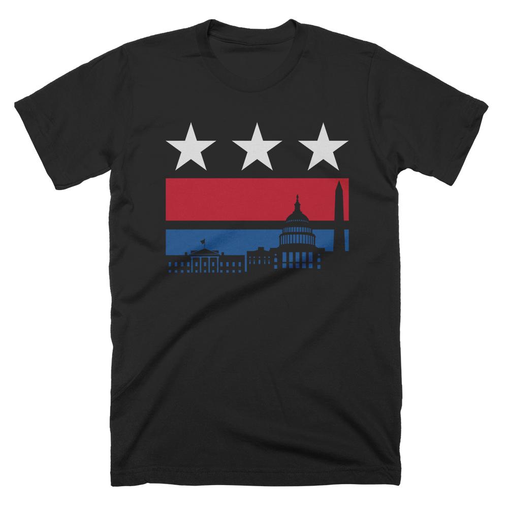 Red White And Blue Washington Dc T Shirt Washington Dc Shirt Shirts Travel Shirts