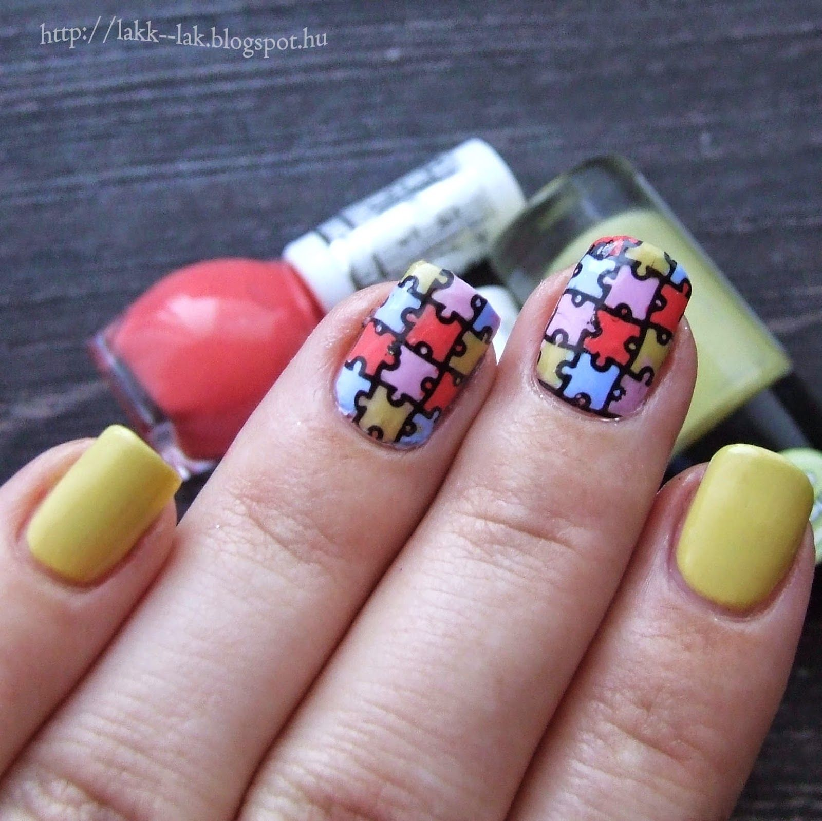 Puzzles nail art Stamping decal wiht Petla plate :)   My nails ...