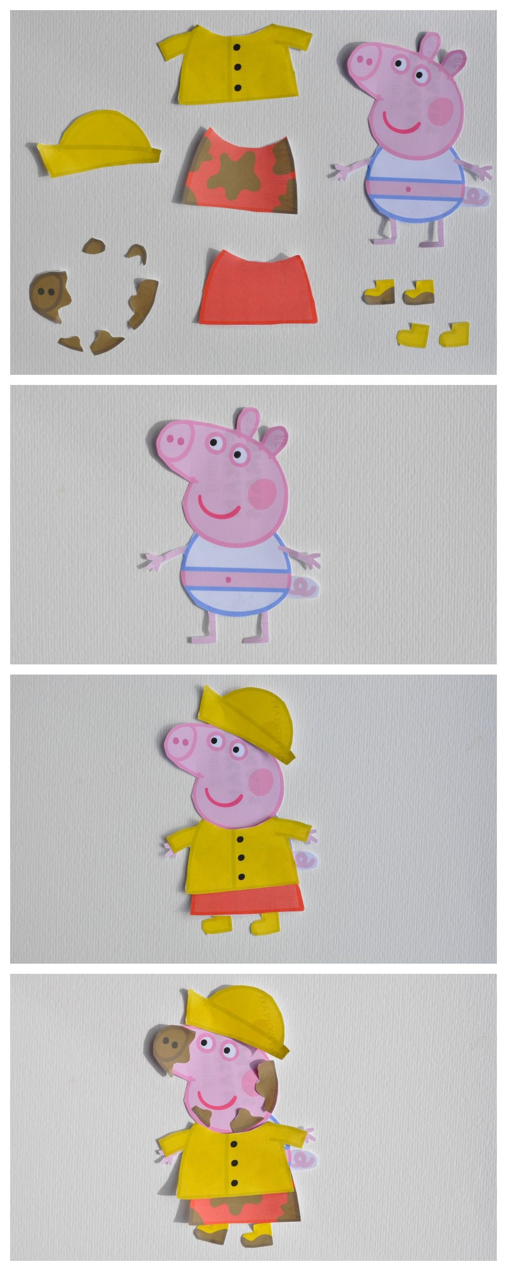 Peppa pig dress up printable peppa pig easter ideas pinterest