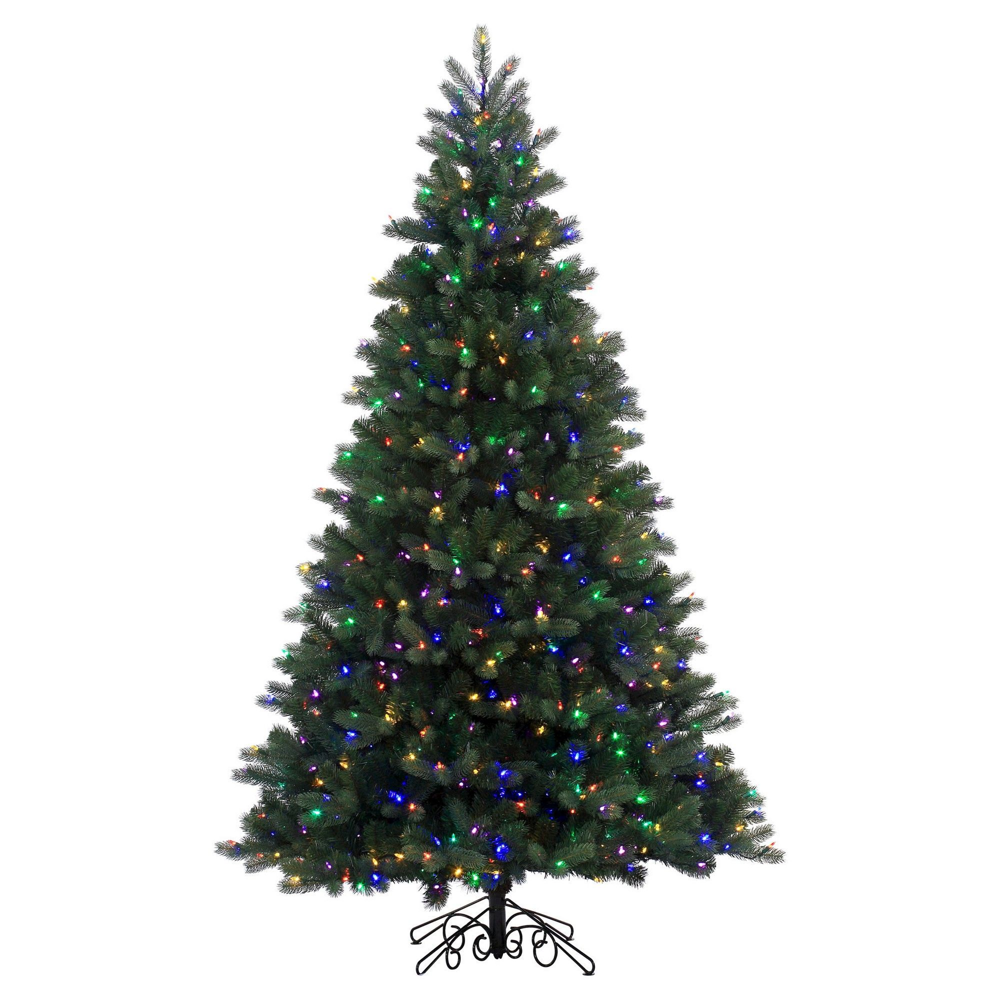 7.5\' Pre-Lit Led Artificial Christmas Tree Noble Spruce Instant ...
