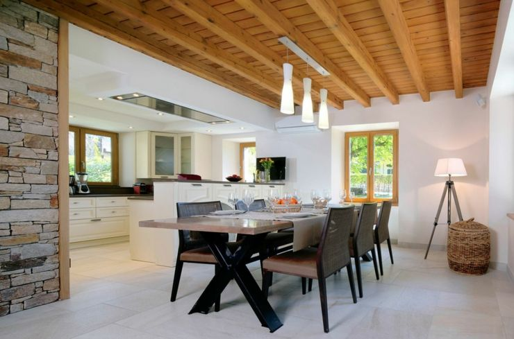 Emejing Cuisine Ouverte Maison Ancienne Contemporary - Matkin.info ...