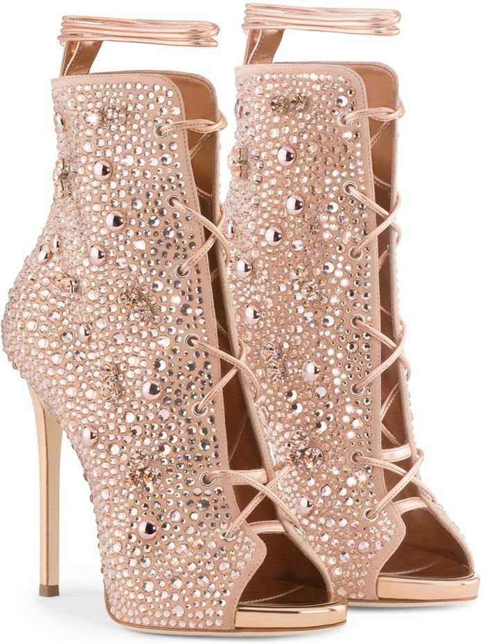 buy cheap outlet cheap sale outlet store Giuseppe for Jennifer Lopez 2017 Crystal-Embellished Lynda Booties cheap online store big discount cheap online supply cheap price CrCwnDnb0