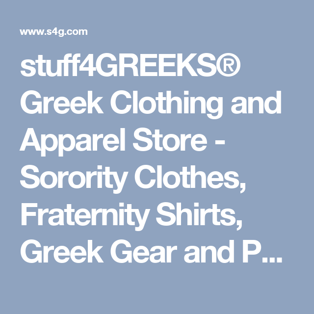 stuff4GREEKS® Greek Clothing and Apparel Store - Sorority Clothes