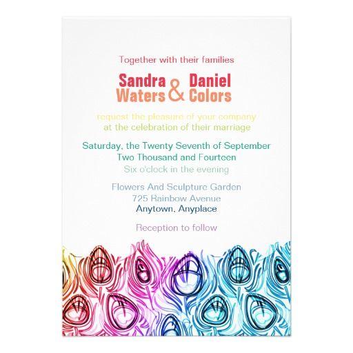 Rainbow Wedding Invitations Online Custom Template Wedding - rainbow template
