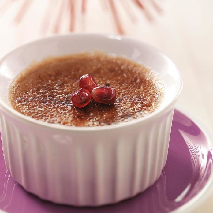 Inspired by Ian's Pomegranate Creme Brulee #cremebrulée