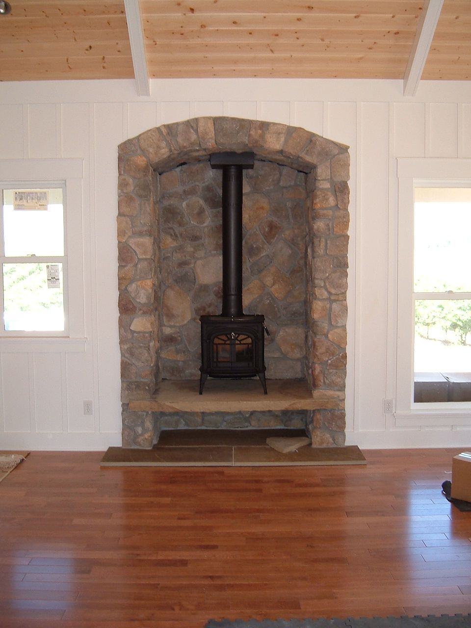 Stone Alcove Fireplace Family Ideas In 2019 Stove Alcove Wood