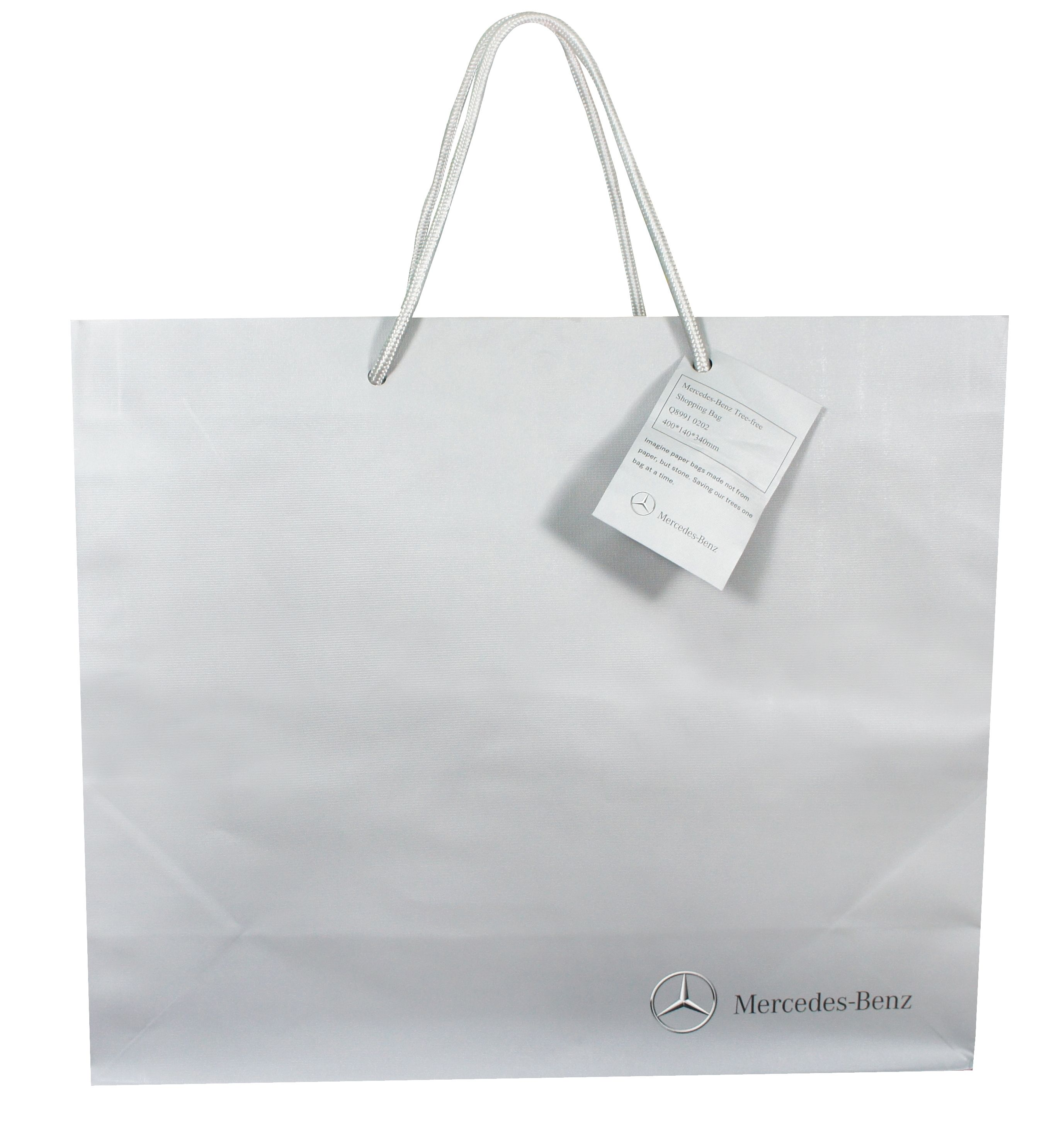 Gift bag from mercedes benz made from stone paper for Mercedes benz gifts