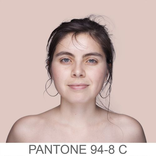 Pantone Portraits — People in front of backgrounds that match their skin...