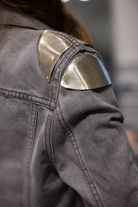 Silver/ Denim jacket