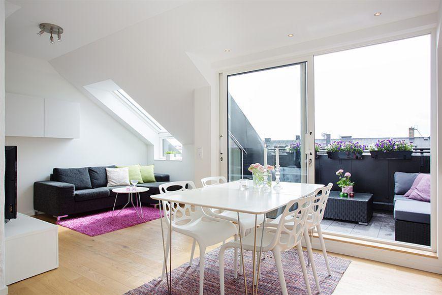 45 m² diáfanos con terraza Cocinas pequenas modernas, Decoracion