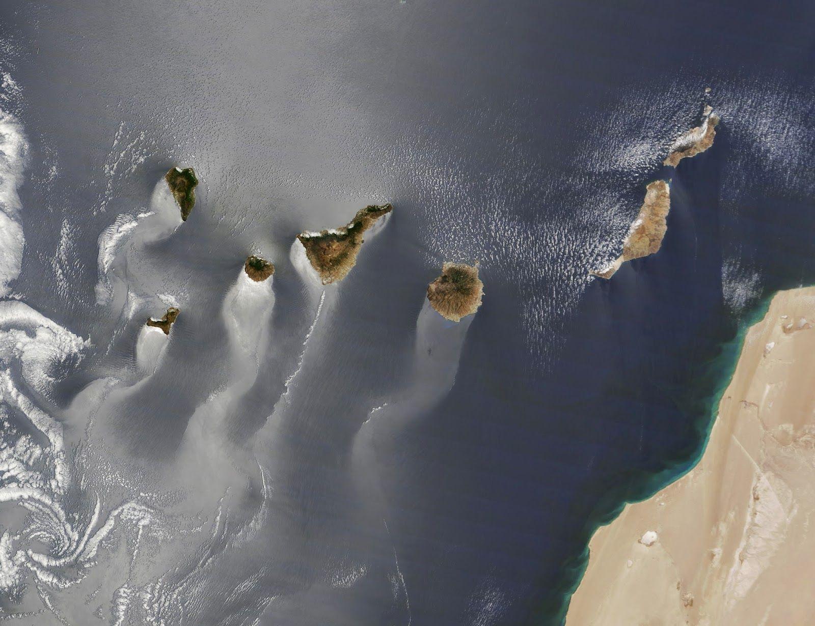 Cinco Postales Espaciales De La Nasa A Canarias Islas Canarias Islas Imagenes De Islas