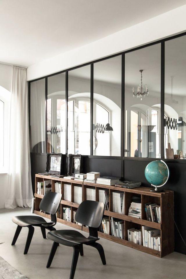 Très Verrière d'intérieur au salon | deco | Pinterest | Verrière, Les  JZ73