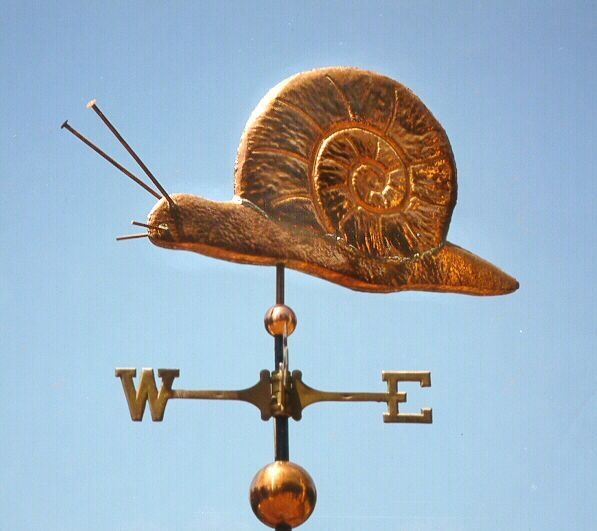 Vintage Tower Of Winds Weathervane: Snail Weather Vane By West Coast Weather Vanes. This Snail