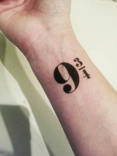 9 3 4 Tattoo For Those Of You Who Are Still Waiting For Your Letter Not Permanent Tatoo Tatuagens Tatuagem