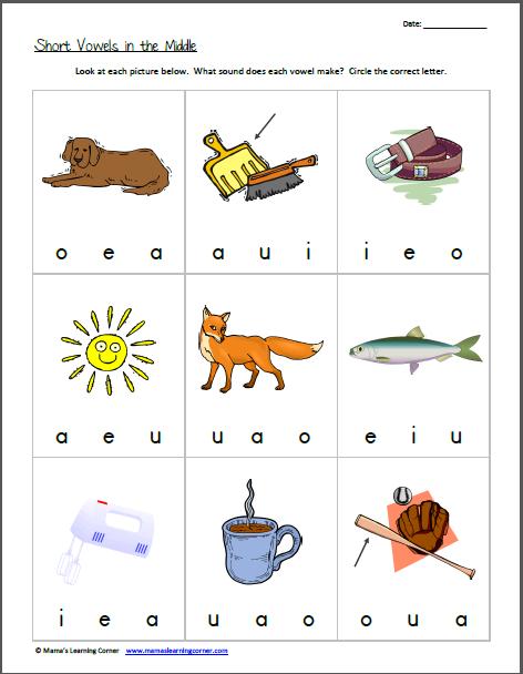 Vowel Sounds Worksheets For Kindergarten - Laptuoso