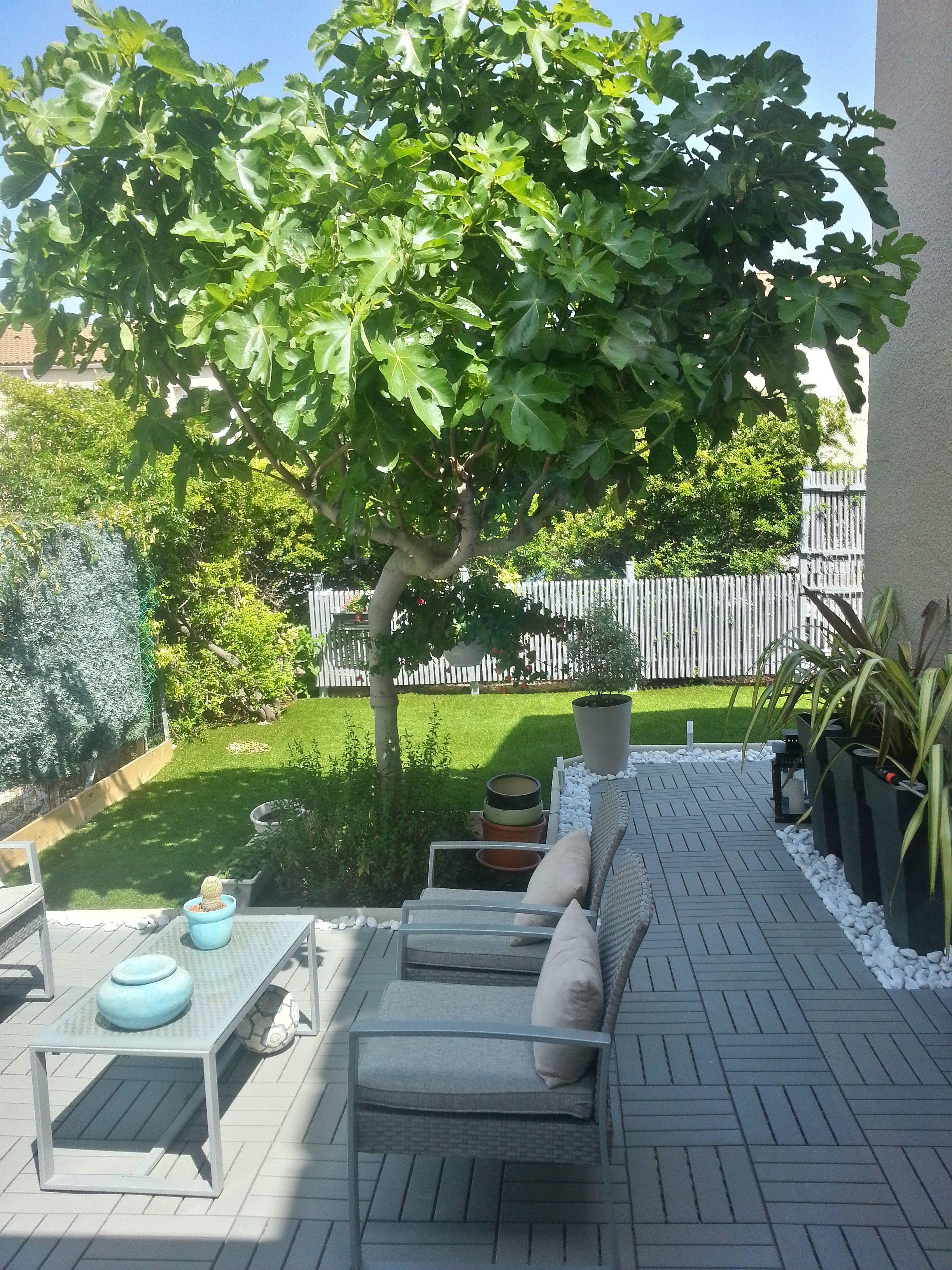 modern garden front yard mlle c bo garden terrasse ikea - Garden Ideas Ikea