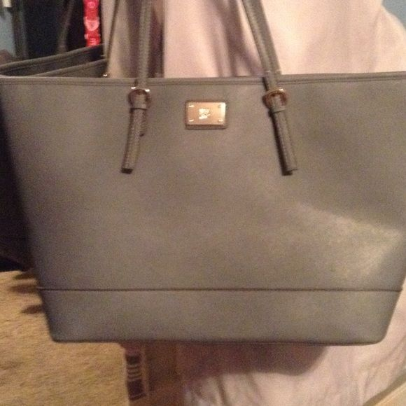 New York And Company Grey Large Shoulder Bag