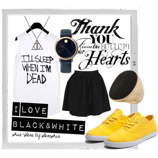 I ♥ BLACK, created by phunplern on Polyvore