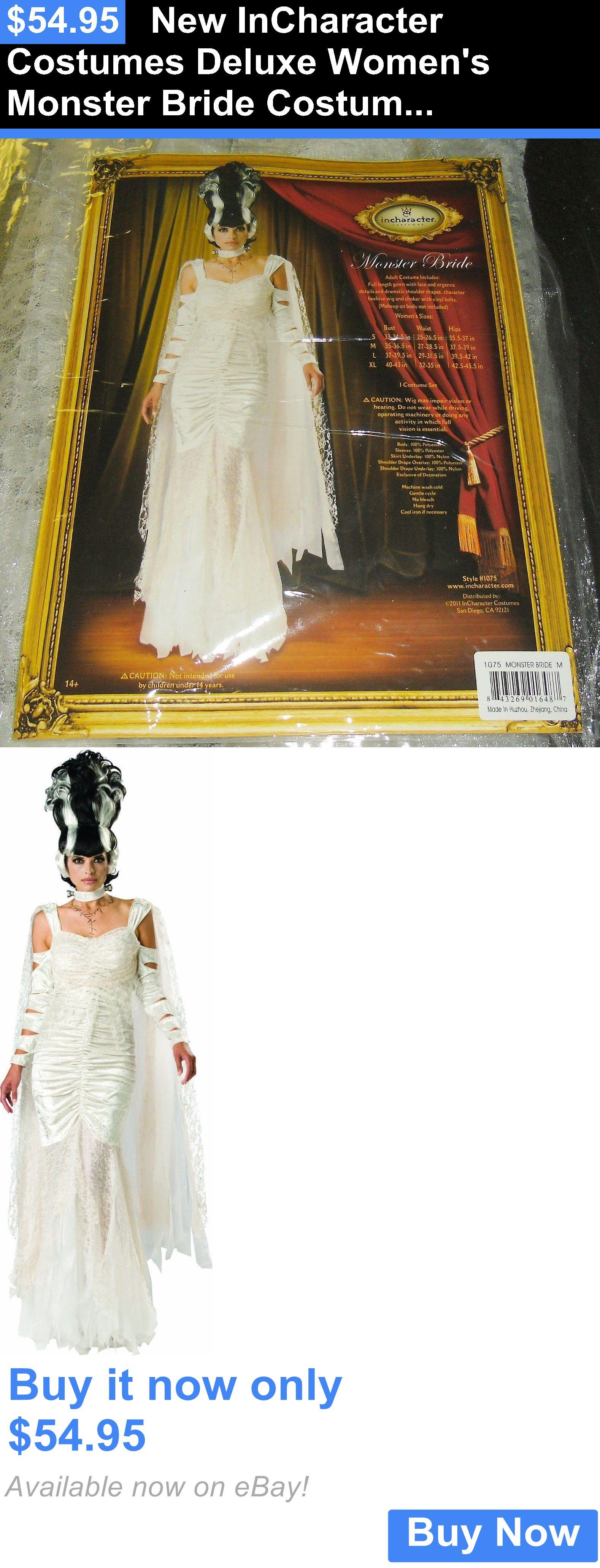 Women costumes new incharacter costumes deluxe womens monster bride