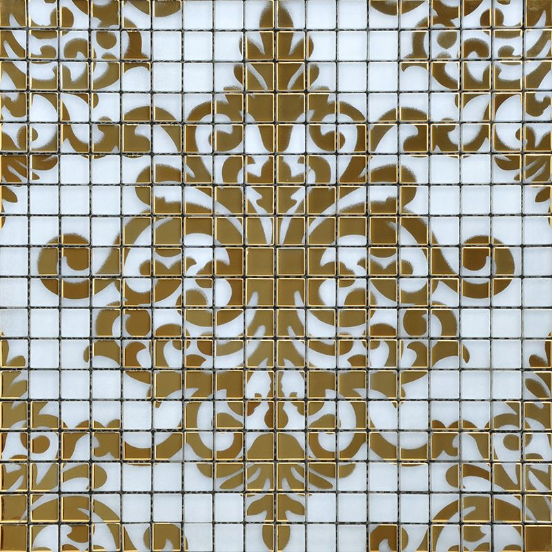 Decorative Wall Tile Murals Crystal Glass Tile Gold Mosaic Collages Design Interior Wall Tile