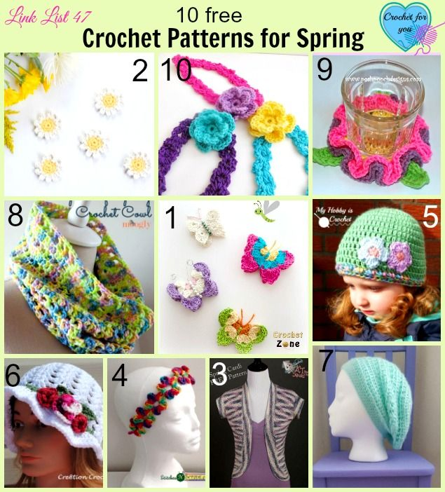10 Free Crochet Patterns for Spring | Pinterest | Bolso tejido ...