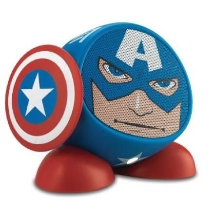 Marvel Captain America Portable Line-in Speaker iHome Audio Line Input  http://topcellulardeals.com/product/marvel-captain-america-portable-line-in-speaker-ihome-audio-line-input/  ||Speaker Features: Audio Line Input, Headphone Jack, USB Chargeable ||No. of Speakers Included: 1 ||Wired Connectivity: 3.5mm jack ||Includes: Audio Cable, Power Cord, USB Cable, Wireless Transmitter ||Not Included: iPad, iPhone, Android Phone, Android Tablet, The New iPad ||Battery required,...