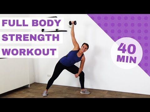 40 minute strength workout with dumbbells  strength and