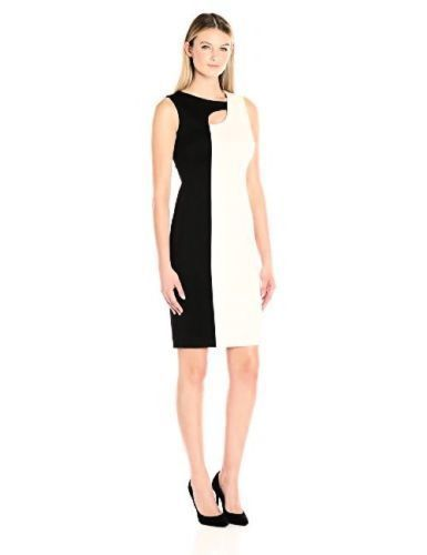 Color block dress black and white