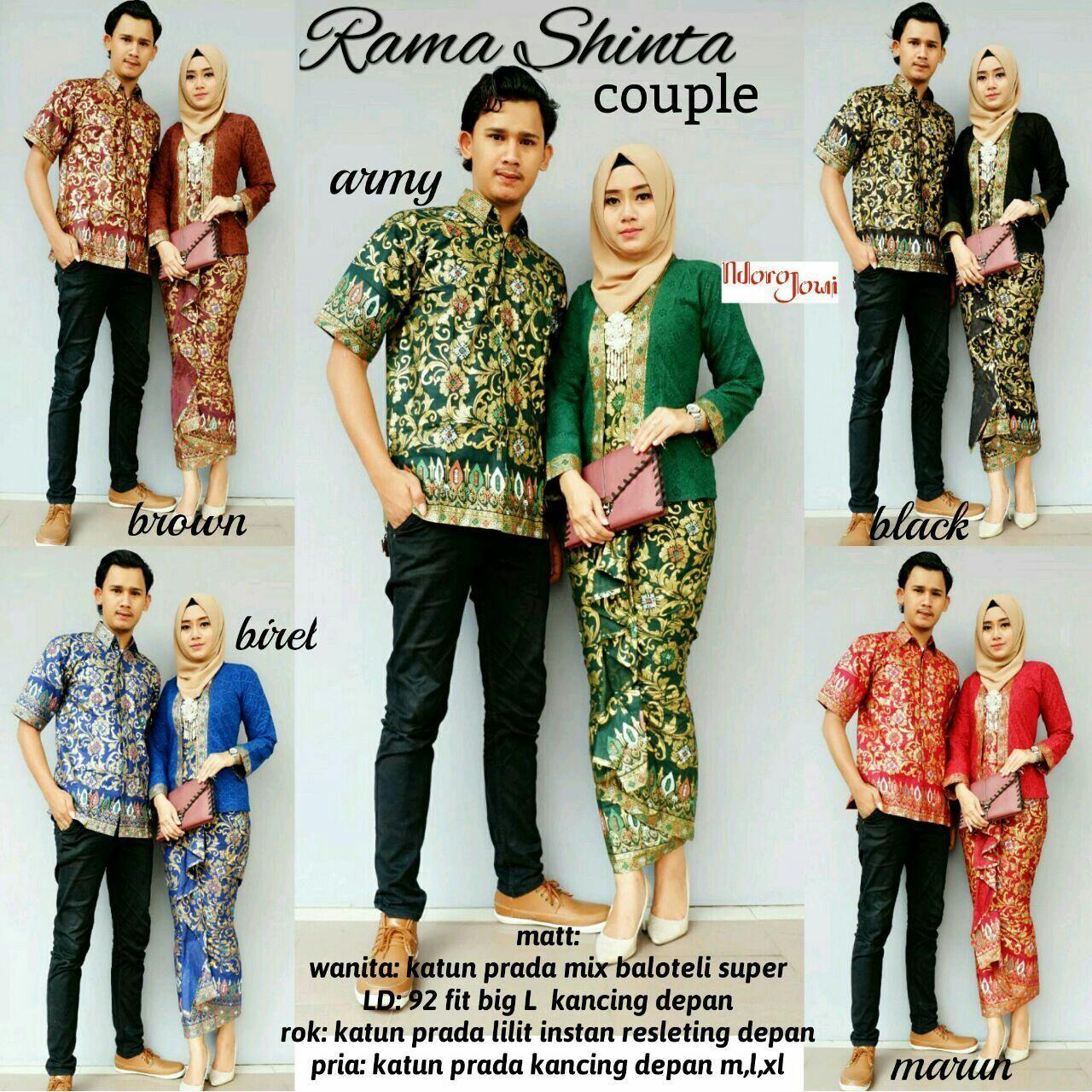 Trend Model Baju Batik Couple Sarimbit Anak Muda 2018 Rama Shinta ... 62ee40a8c5