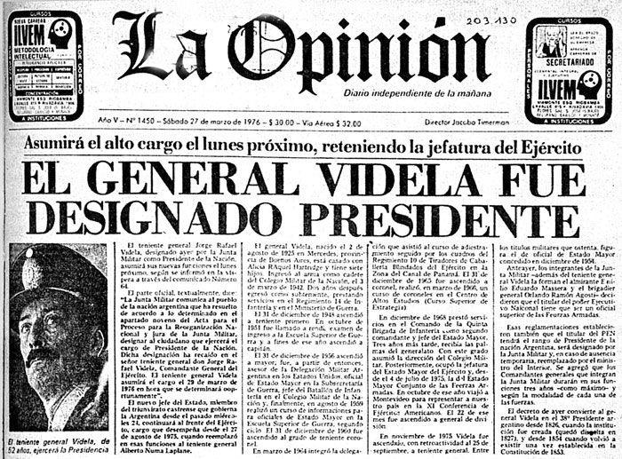 Elegi Estas Noticias Portadas De Diario Para Retratar Algunos De Los Momentos De Esos Anos Noticias De Periodicos Dictadura Militar Dictadura