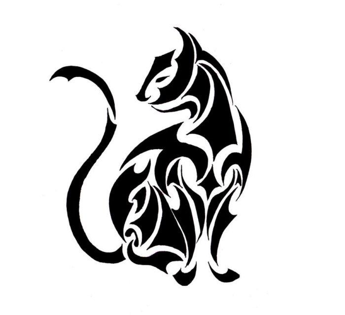 53 Ideen Fur Tattoovorlagen Motive Und Ihre Symbolische Bedeutung Schwarze Katze Tatowierungen Katzentattoos Und Stammestattoo Designs