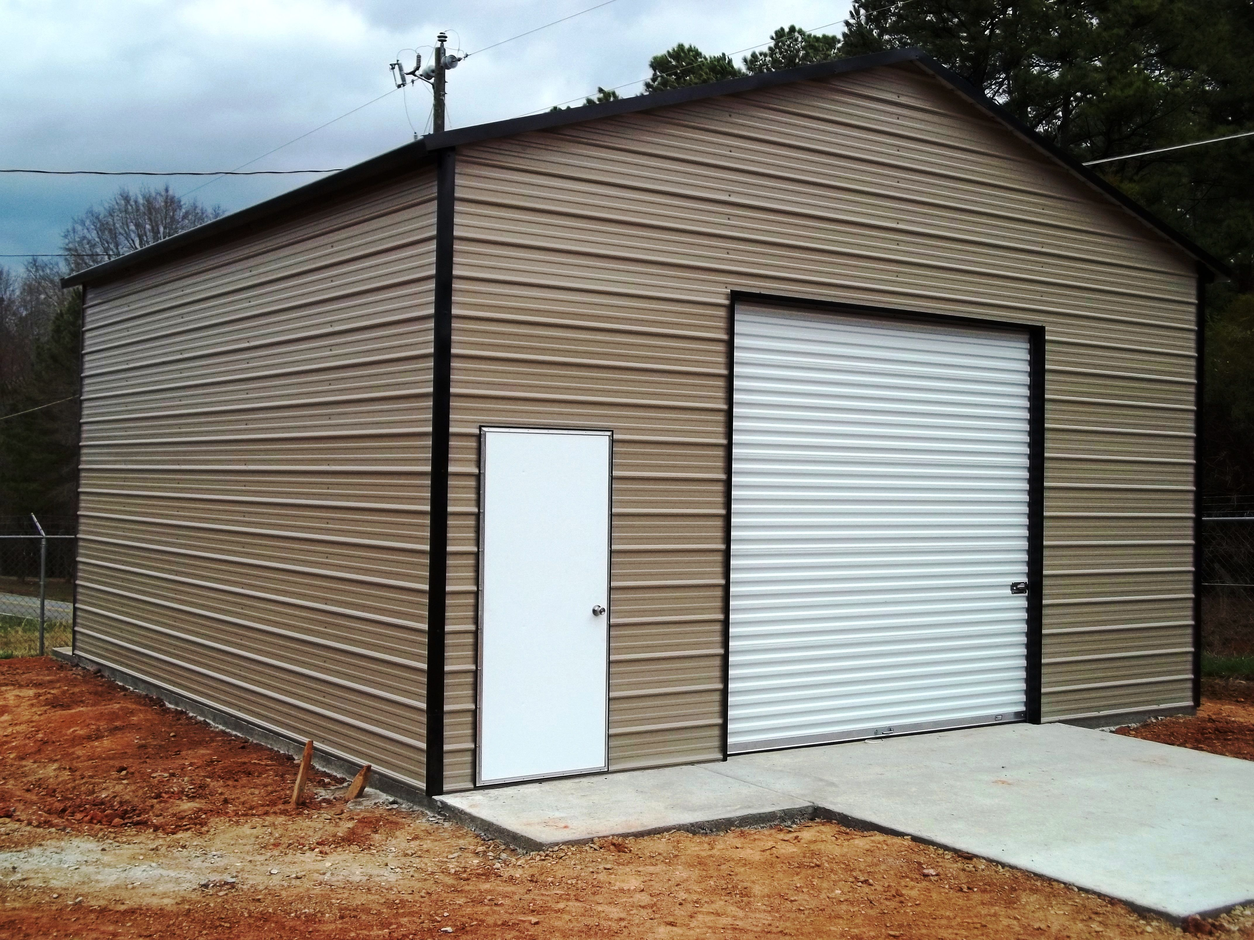 Large Garage With Oversize Door R B Metal Structures Modern Garage Doors Garage Door Design Doors