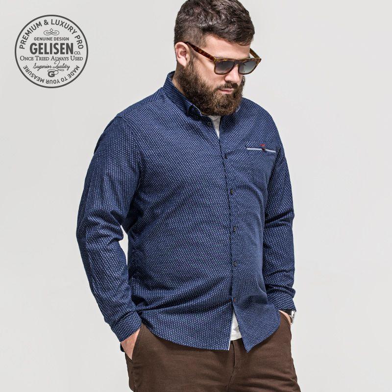 89858a9d6 GELISEN 2015 Brand Fashion Men s Large Size shirt