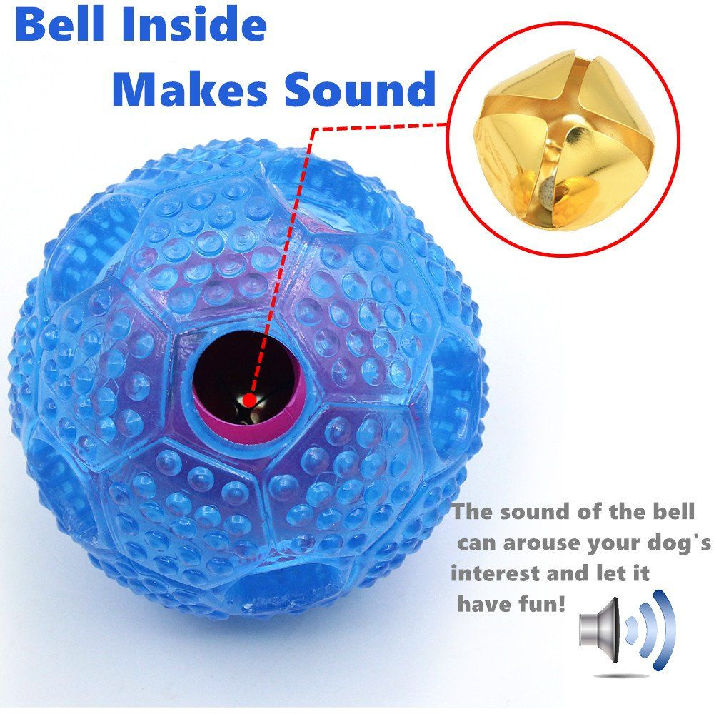 Dog Toy Balls Food Dispensing Iq Treat Ball With Bell Inside