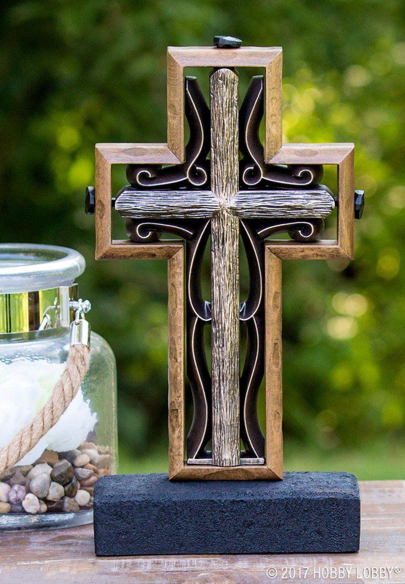 Representative of two one, unity crosses add a
