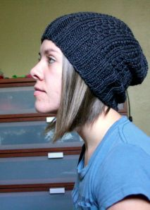 Super Slouchy Hipster beanie hat free pattern