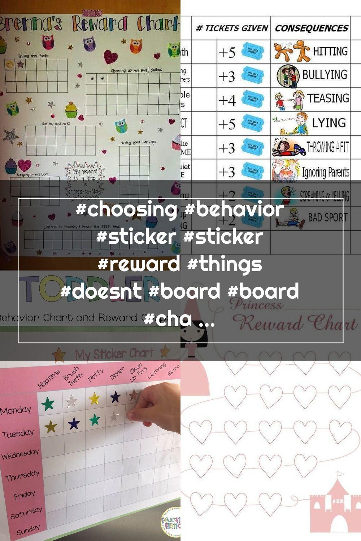Choosing Behavior Sticker Sticker Reward Things Doesnt Board Board In 2020 Reward Chart Chart Toys R Us