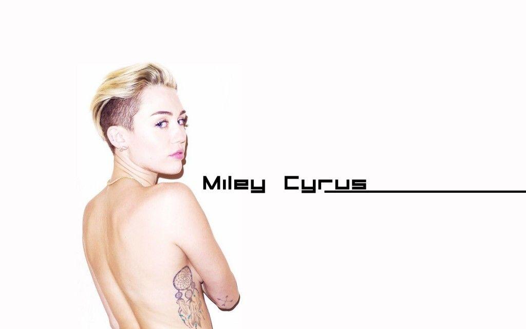 Baring It All Miley Cyrus Desktop Wallpaper