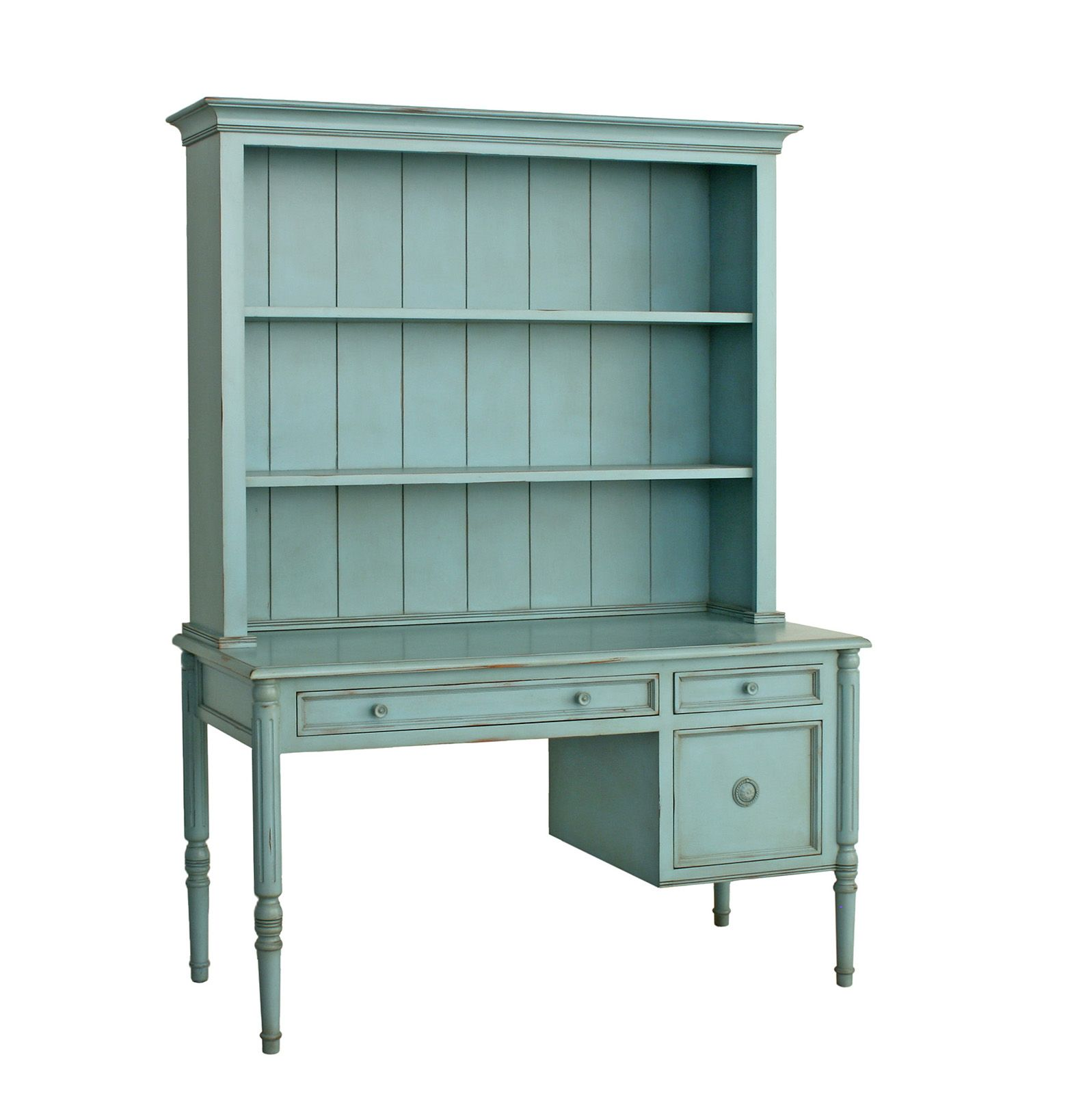 The Hampton S Furniture Collection Southampton Writing Desk With Hutch Standard Painted Br Hardware Robin Egg Blue