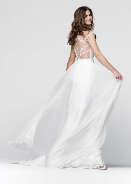 Tarik Ediz- Prom Collection Style #50046 Long Cream Prom Gown. Also ...