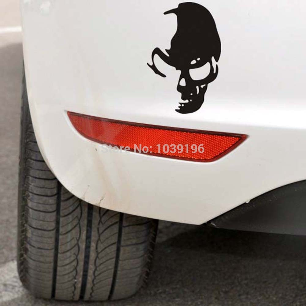 Genity Funny Skull Ghost Rider Car Stickers Alfonsocarter Car Stickers Ghost Rider Skull [ 1000 x 1000 Pixel ]