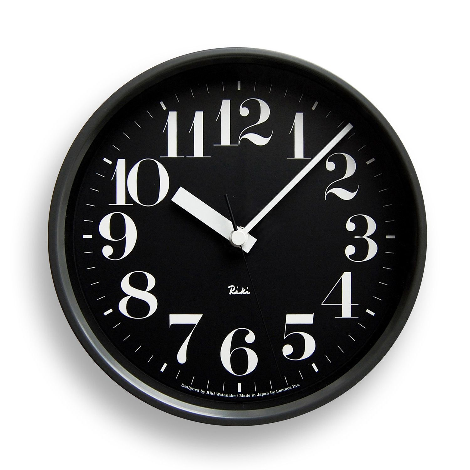 Riki Steel Clock Black Clock Wall Clock Black Design