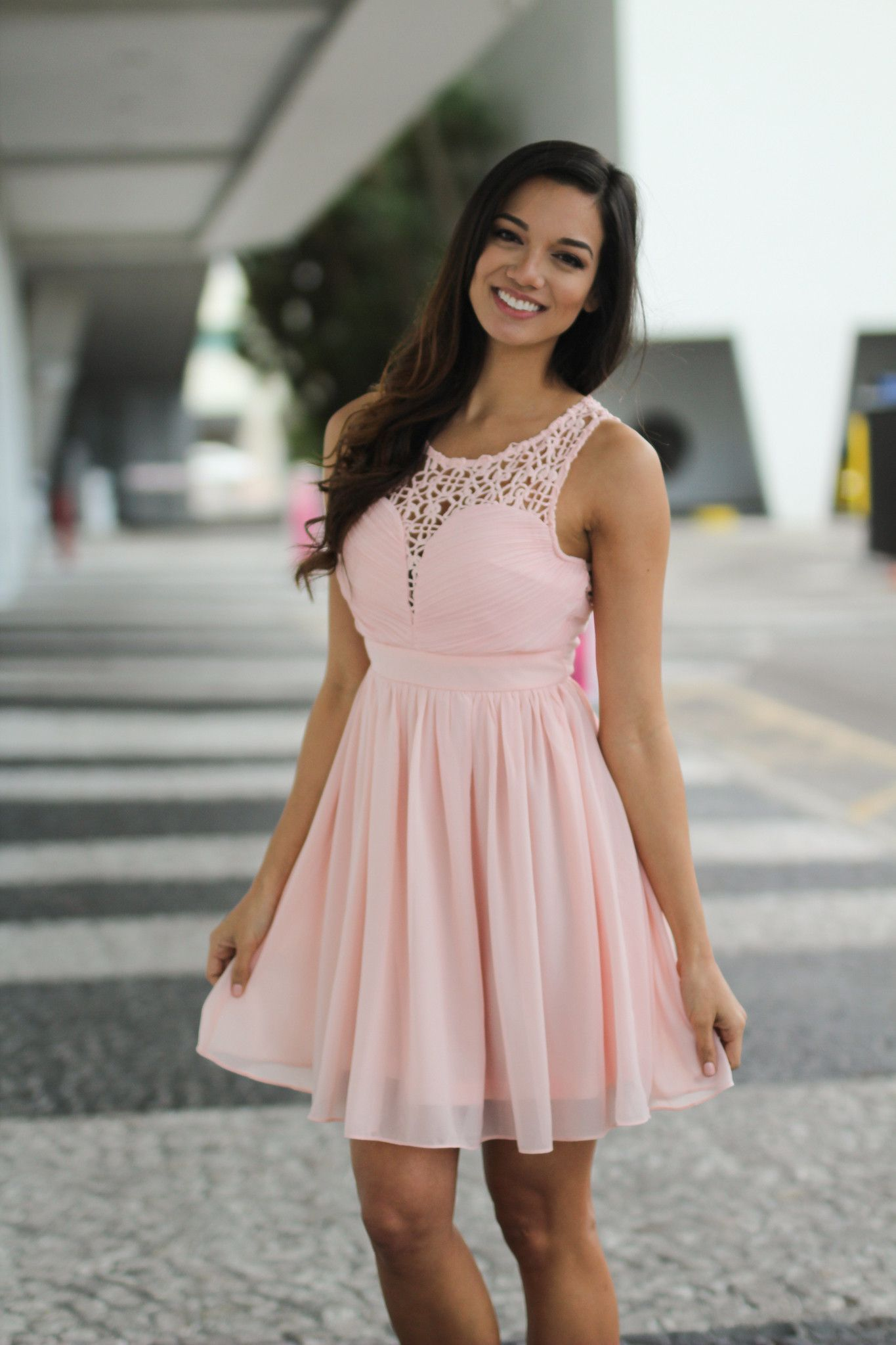 5e5370e93c Short pink bridesmaid dress