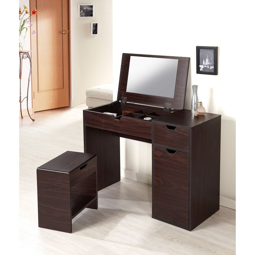 Furniture Of America Laurel Multi Storage Vanity Table